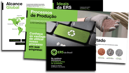 ERS printed materials featuring recycling process