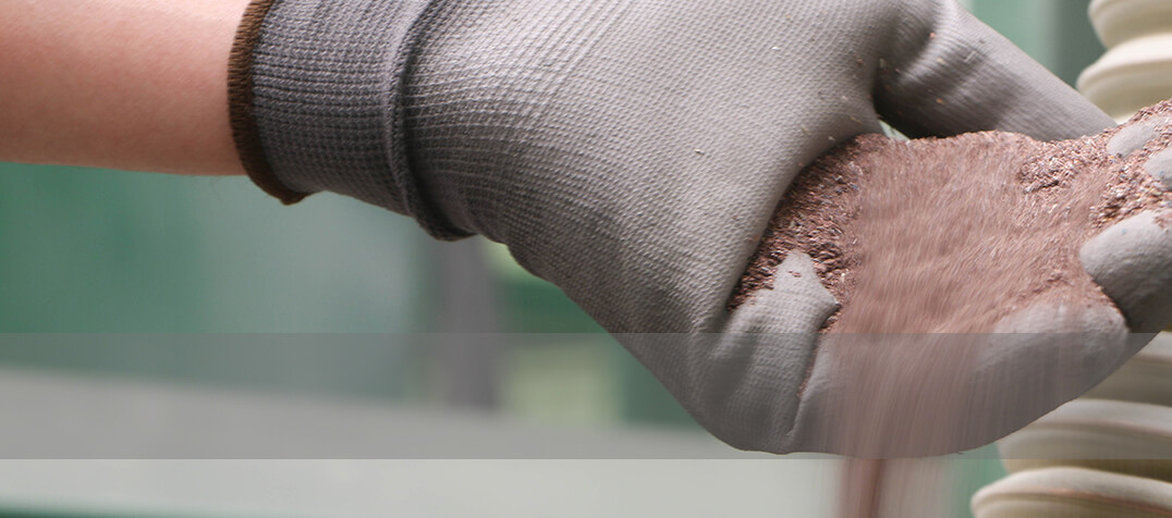 Powder resultant from recycling electronic materials